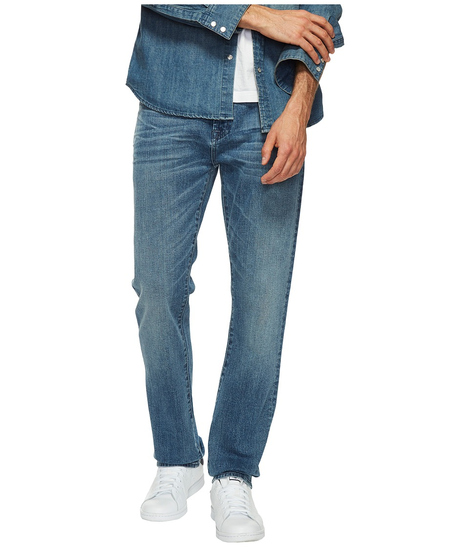 7 For All Mankind - The Straight in Bastille Sun (Bastille Sun) Men's Clothing