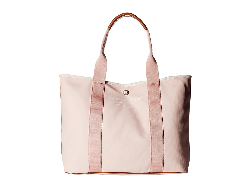 Marc Jacobs - Canvas Shopper East/West Tote (Pale Pink) Tote Handbags