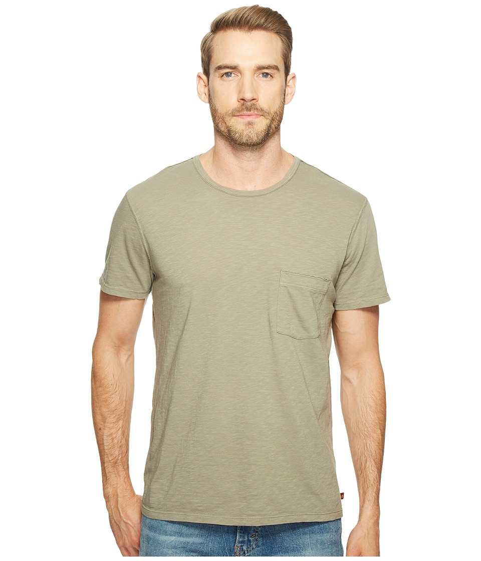 7 For All Mankind - Short Sleeve Raw Pocket Crew (Sage) Men's Clothing