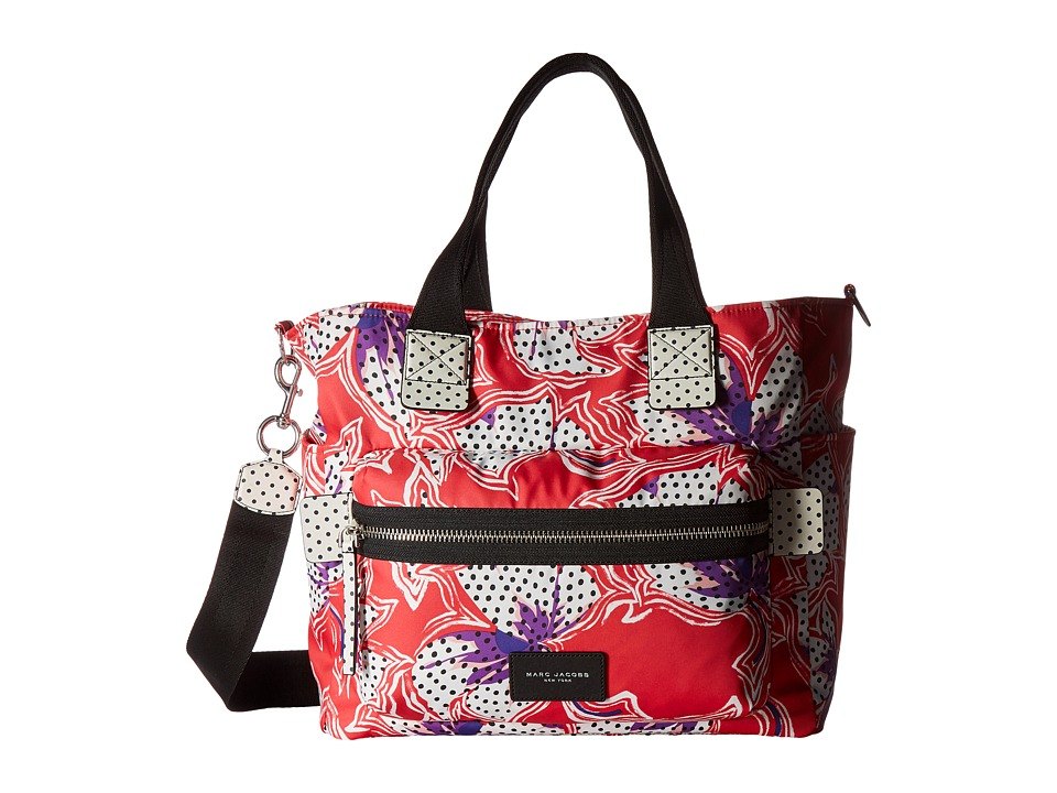 Marc Jacobs - Spotted Lily Printed Biker Babybag (Red Multi) Handbags