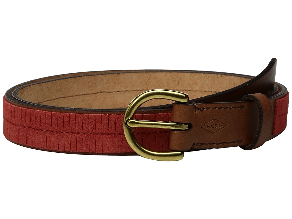 Fossil - Fringe Skinny Belt (Chili Pepper) Women's Belts