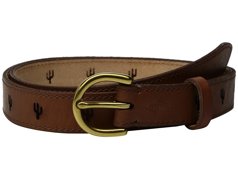 Fossil - Cactus Perforated Belt (Tan) Women's Belts