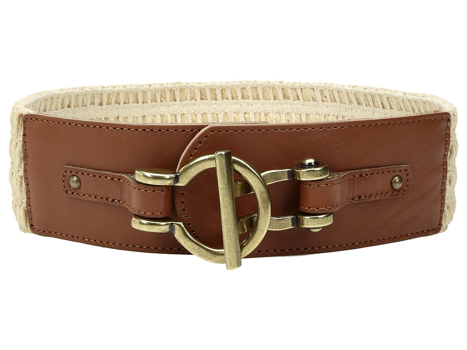 Fossil - Macrame Stretch Belt (Natural) Women's Belts