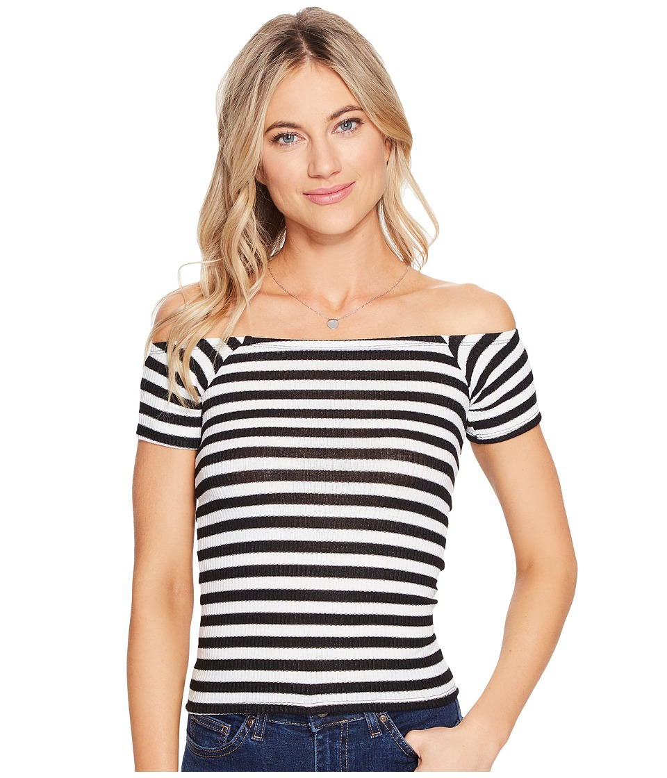 Billabong - Right Now Knit Top (Black/White) Women's Clothing