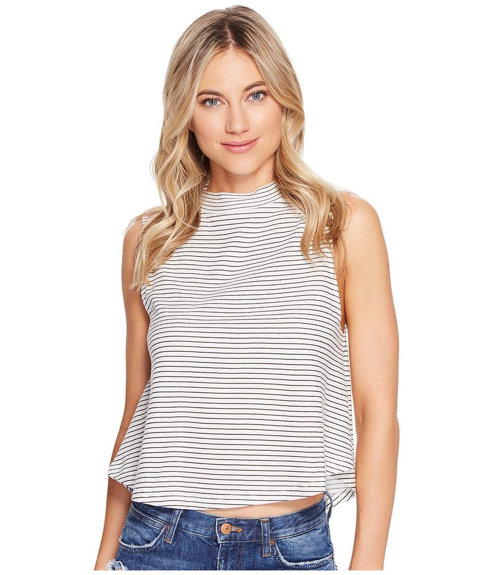 Billabong - Way Up Knit Top (Black/White) Women's Clothing