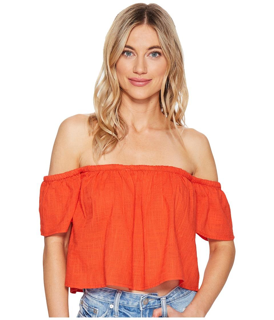 Billabong - La Boheme Woven Top (Rio Red) Women's Clothing