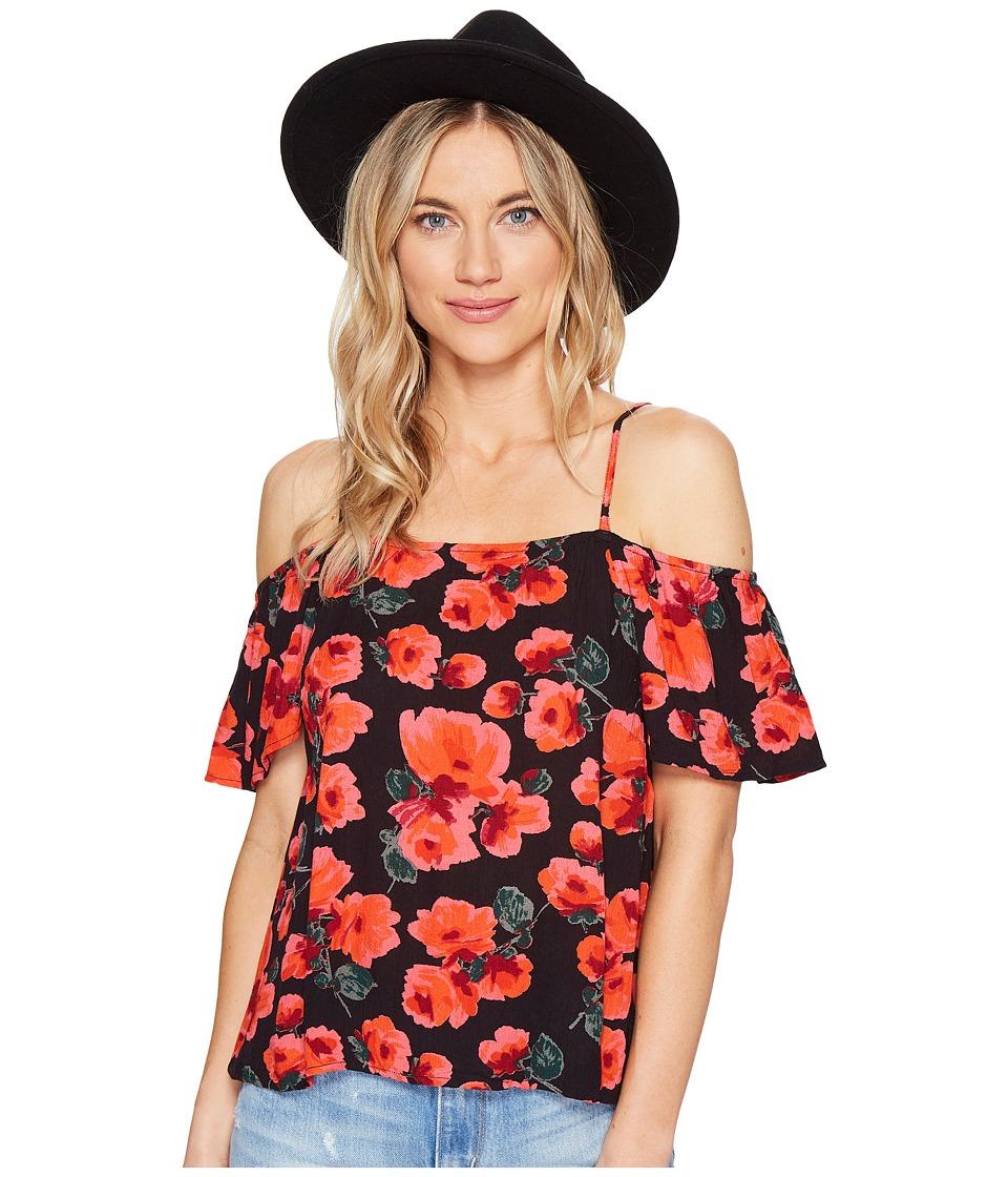 Billabong - Summer Nights Woven Top (Off-Black) Women's Clothing