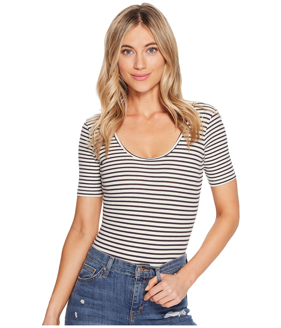 Billabong - Dream Away Knit Top (Black/White) Women's Clothing