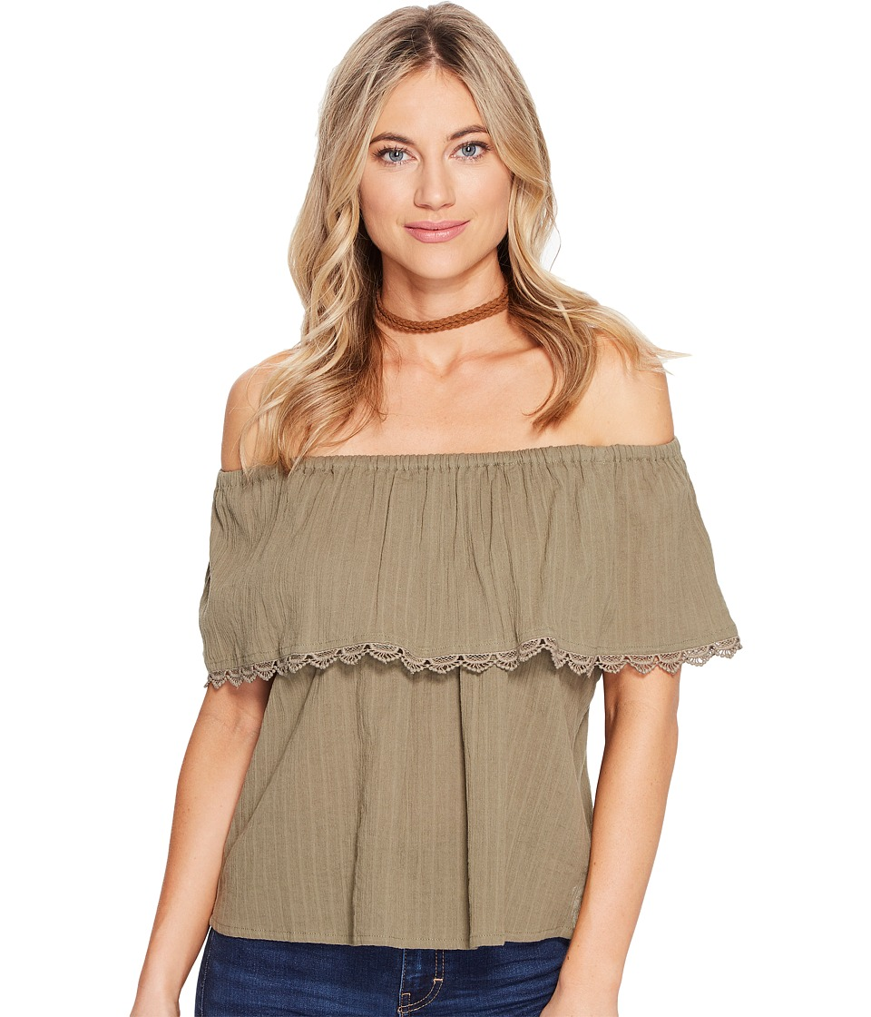 Billabong - Spring Fling Woven Top (Seagrass) Women's Clothing