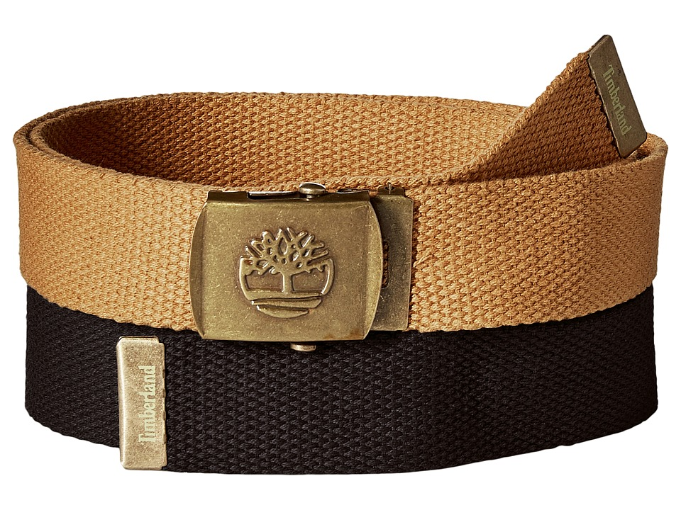Timberland - 2-in-1 Boxed Web Belt Pack (Black) Men's Belts