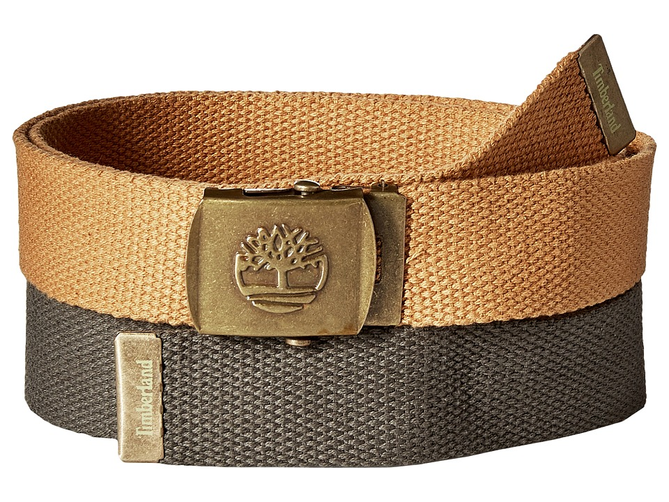 Timberland - 2-in-1 Boxed Web Belt Pack (Olive) Men's Belts