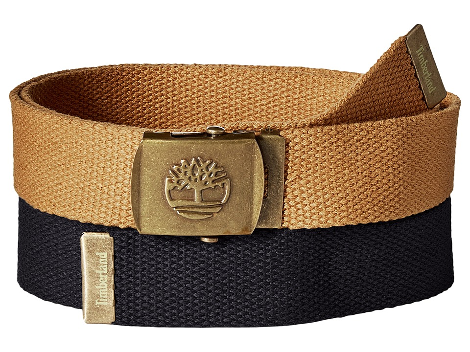 Timberland - 2-in-1 Boxed Web Belt Pack (Navy) Men's Belts
