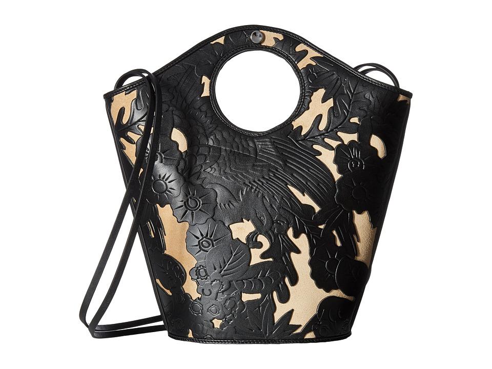 Elizabeth and James - Market Small Shopper (Black/Natural) Handbags