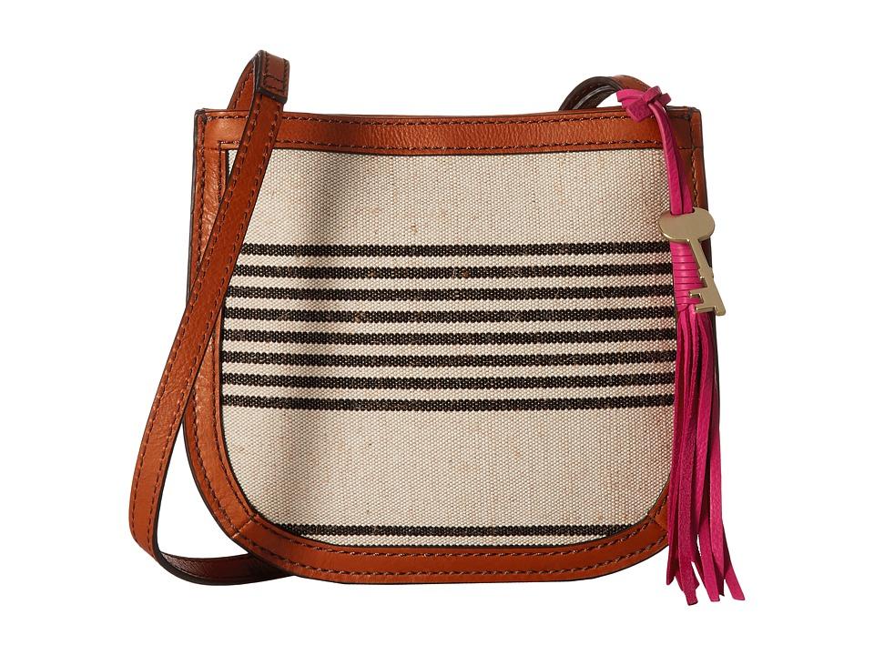 Fossil - Brooklyn Small Crossbody (Black Stripe) Cross Body Handbags