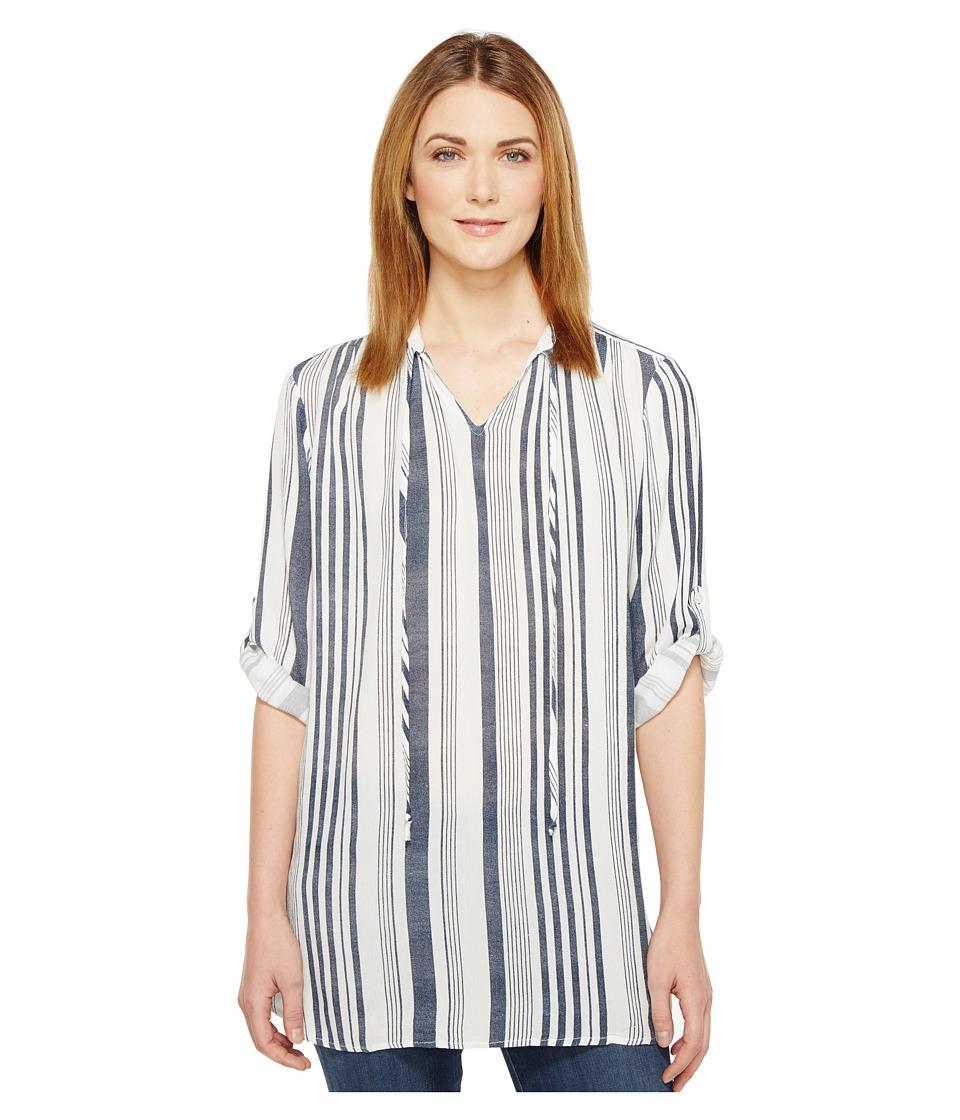 Fresh Produce - Skylar Stripe Tunic (Moonlight Blue) Women's Blouse