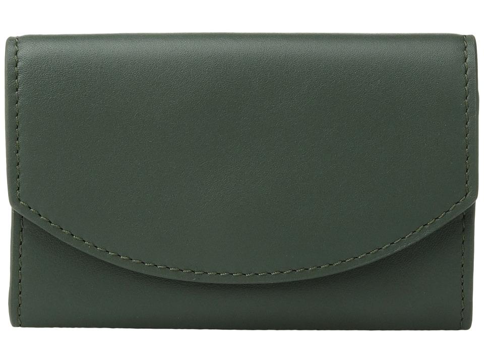 Skagen - Flap Card Case (Agave) Credit card Wallet