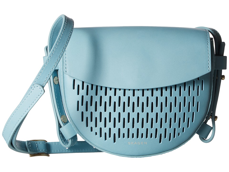 Skagen - Lobelle Mini Saddle Bag (Sky Blue) Bags