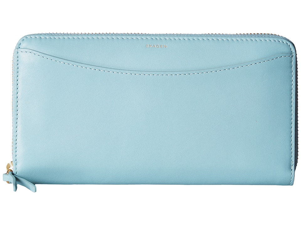 Skagen - Hanne Zip Wallet (Sky Blue) Wallet Handbags