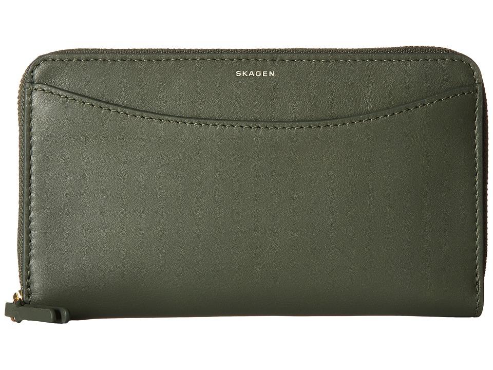 Skagen - Compact Zip Wallet (Agave) Wallet Handbags