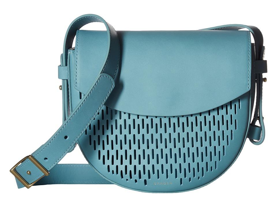 Skagen - Lobelle Saddle Bag (Sky Blue) Bags