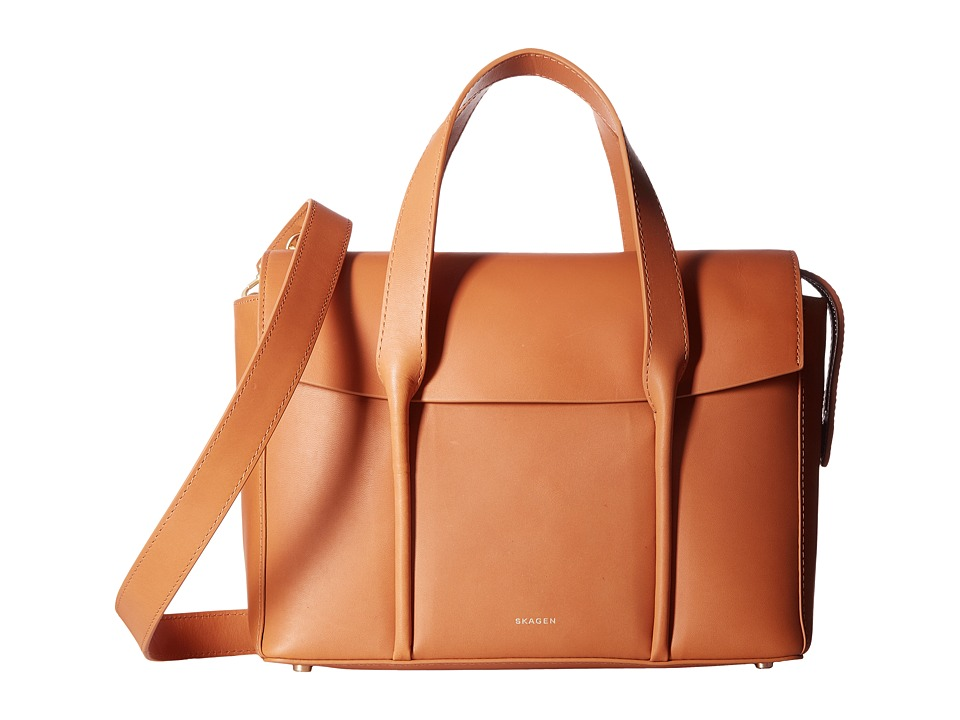 Skagen - Medium Beatrix Satchel (Tan) Handbags