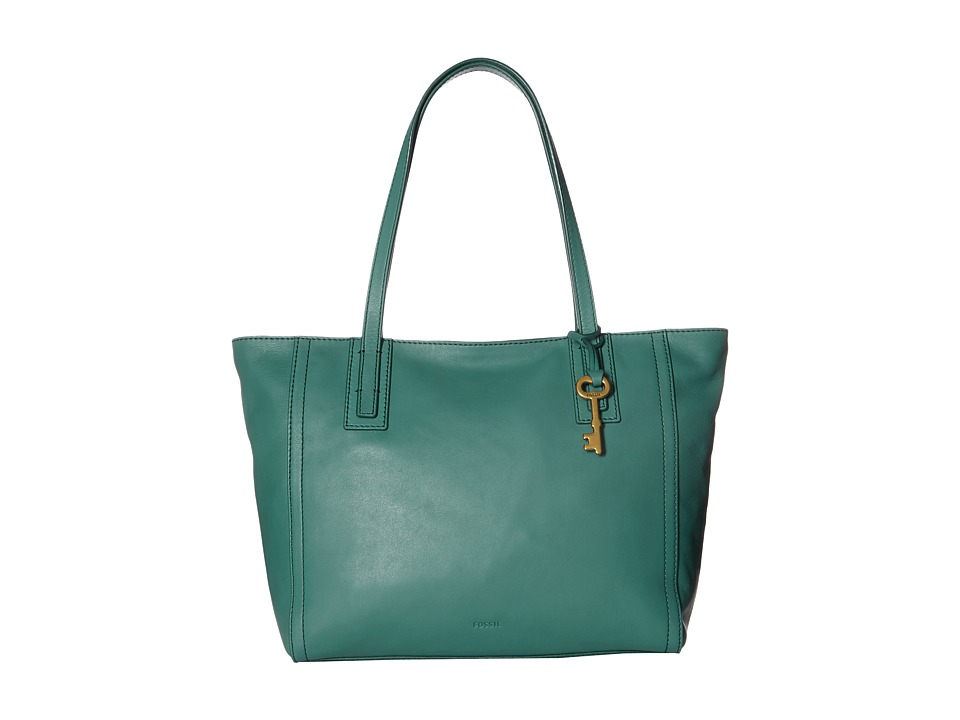 Fossil - Emma Tote (Teal Green) Tote Handbags