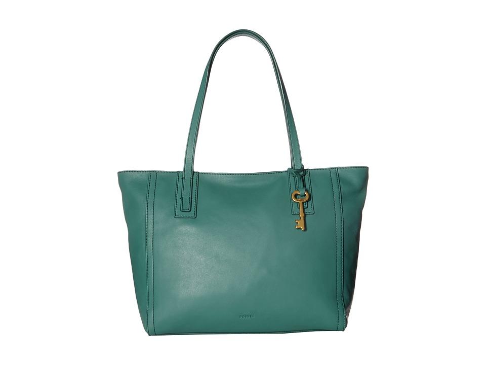 Fossil - Emma Tote (Teal Green) Tote Handbags