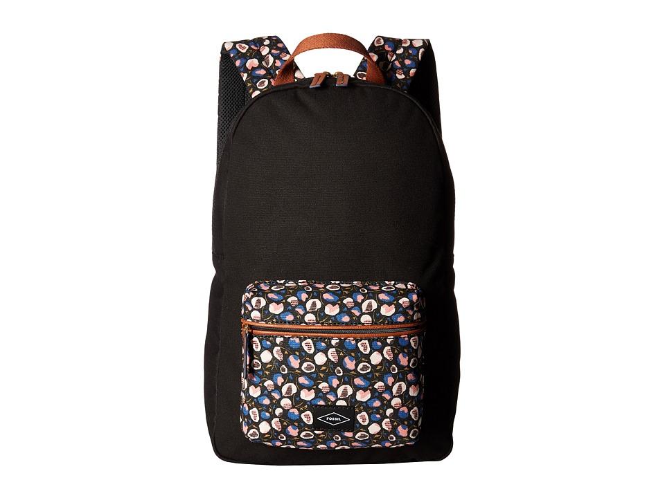 Fossil - Phoebe Backpack (Black Floral) Backpack Bags