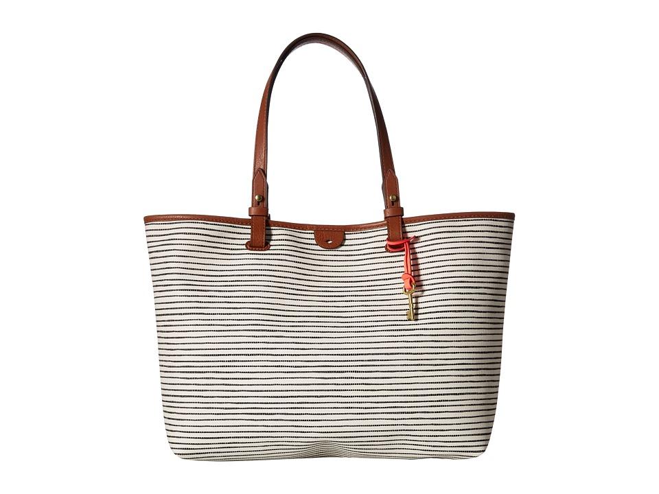 Fossil - Rachel Tote (Black/White) Tote Handbags