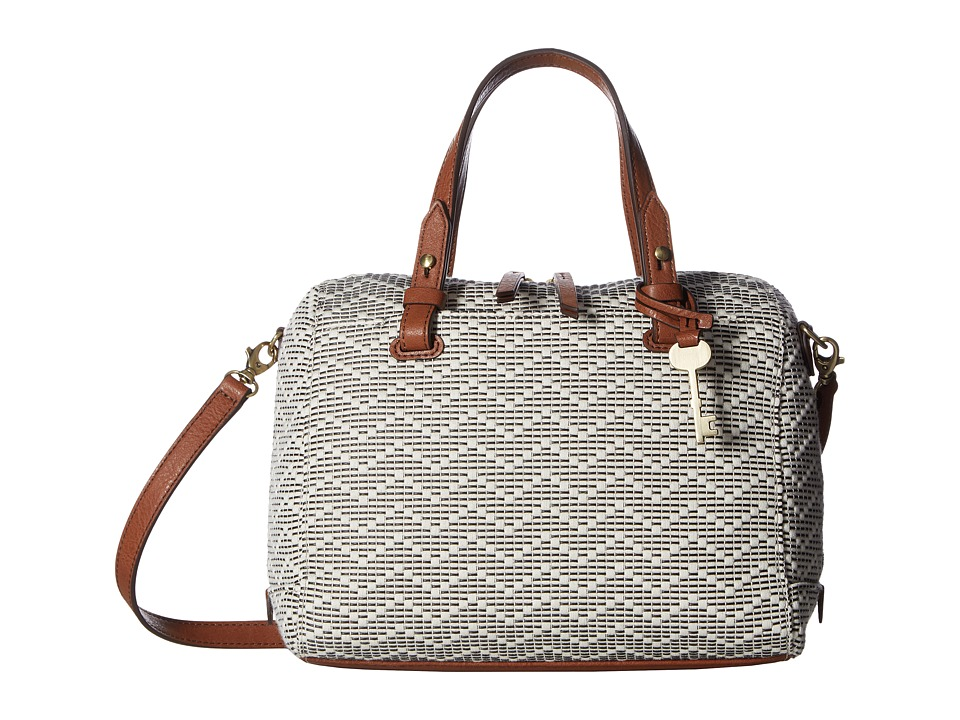 Fossil - Rachel Satchel (Neutral Stripe) Satchel Handbags