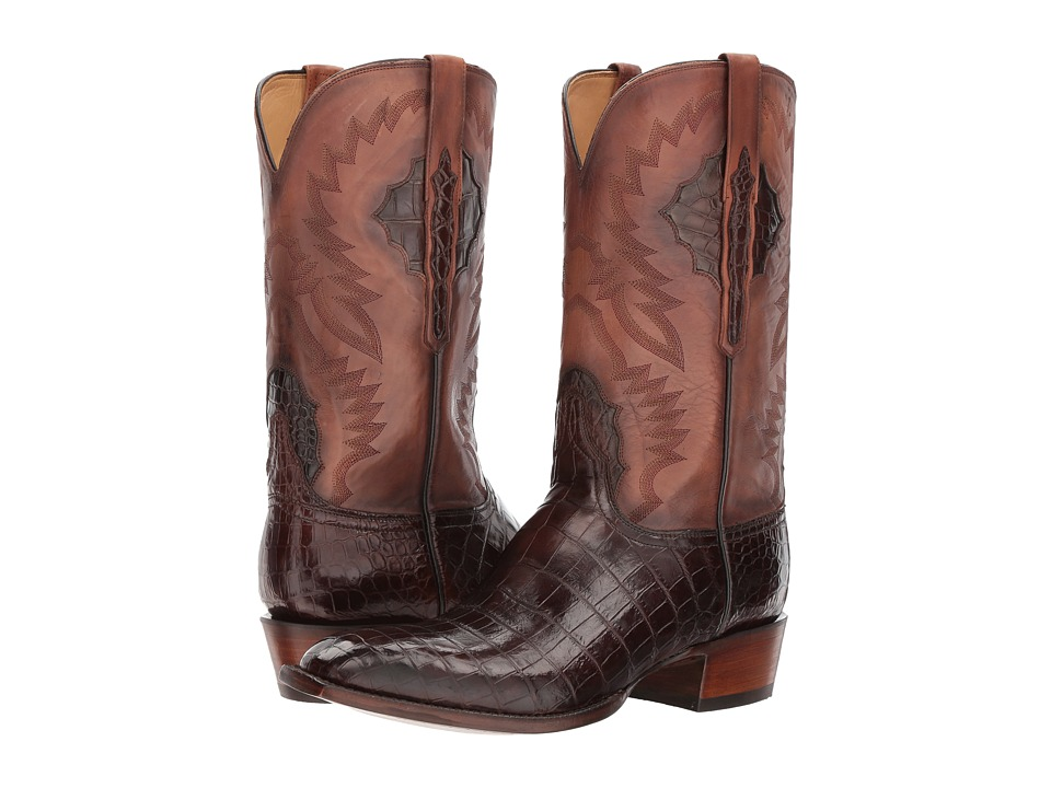 Lucchese McKinley (Chocolate) Cowboy Boots