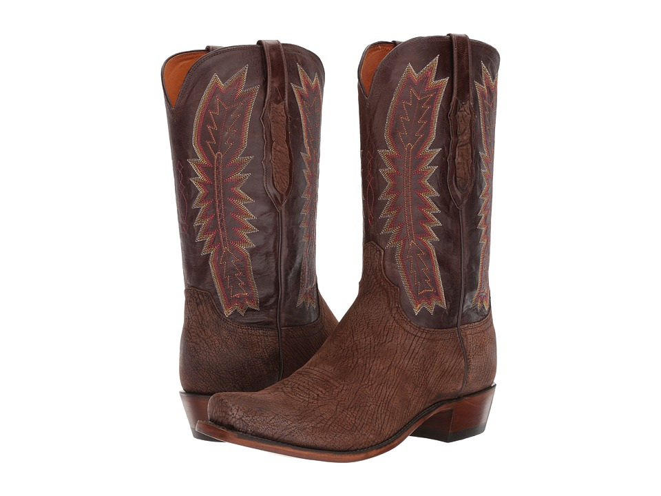 Lucchese Harrison (Chocolate) Cowboy Boots