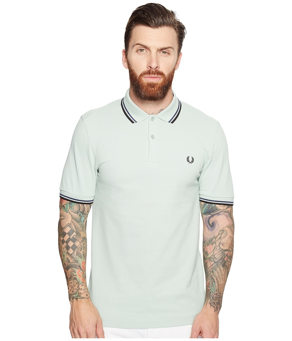 Fred Perry - Twin Tipped Shirt (Mint/Midnight Blue/Black) Men's Short Sleeve Knit