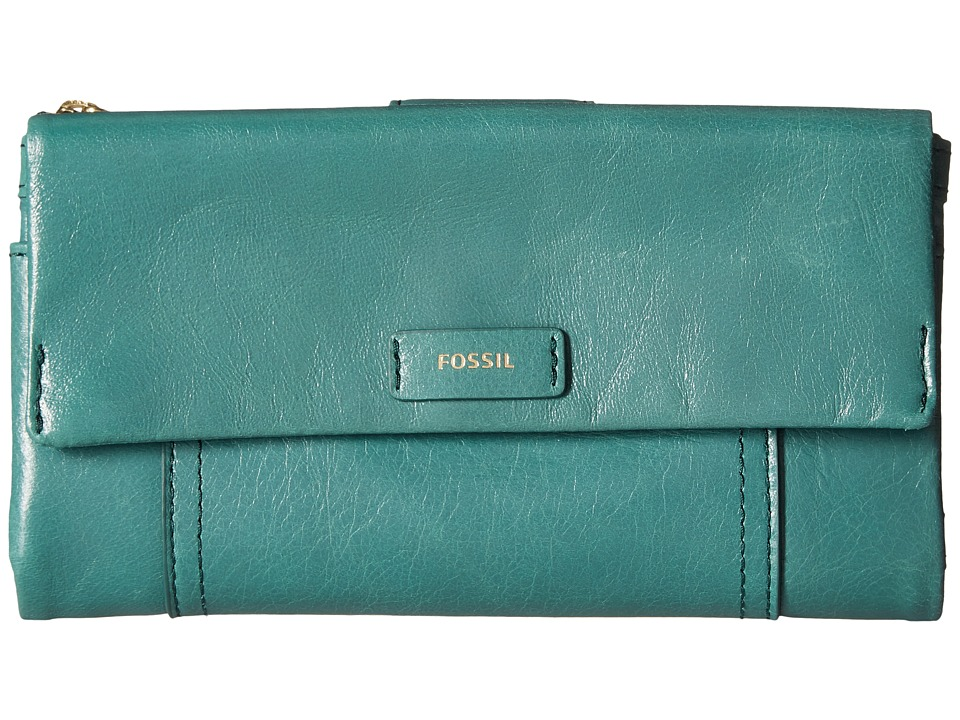 Fossil - Ellis Clutch (Teal Green) Clutch Handbags