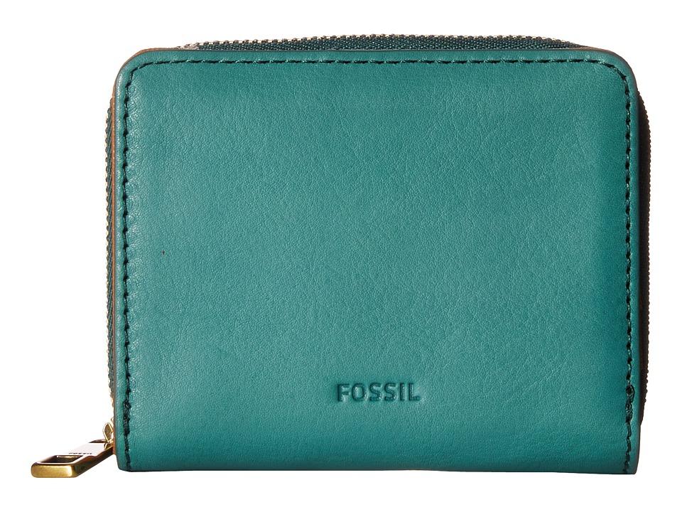 Fossil - Emma Mini Multi Wallet RFID (Teal Green) Wallet Handbags