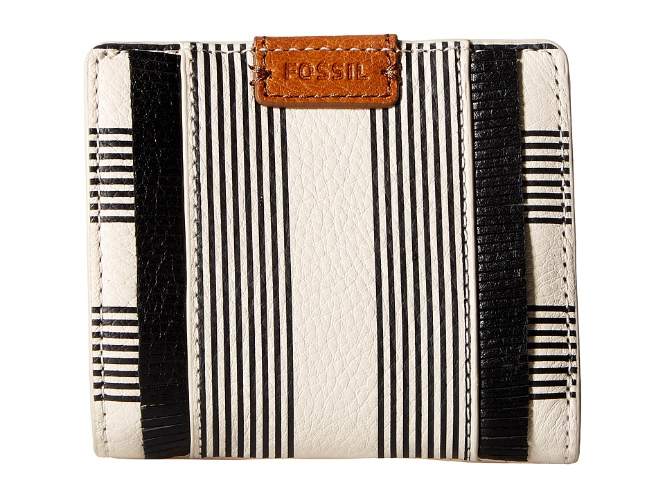 Fossil - Emma Mini Wallet RFID (Black Stripe) Wallet Handbags