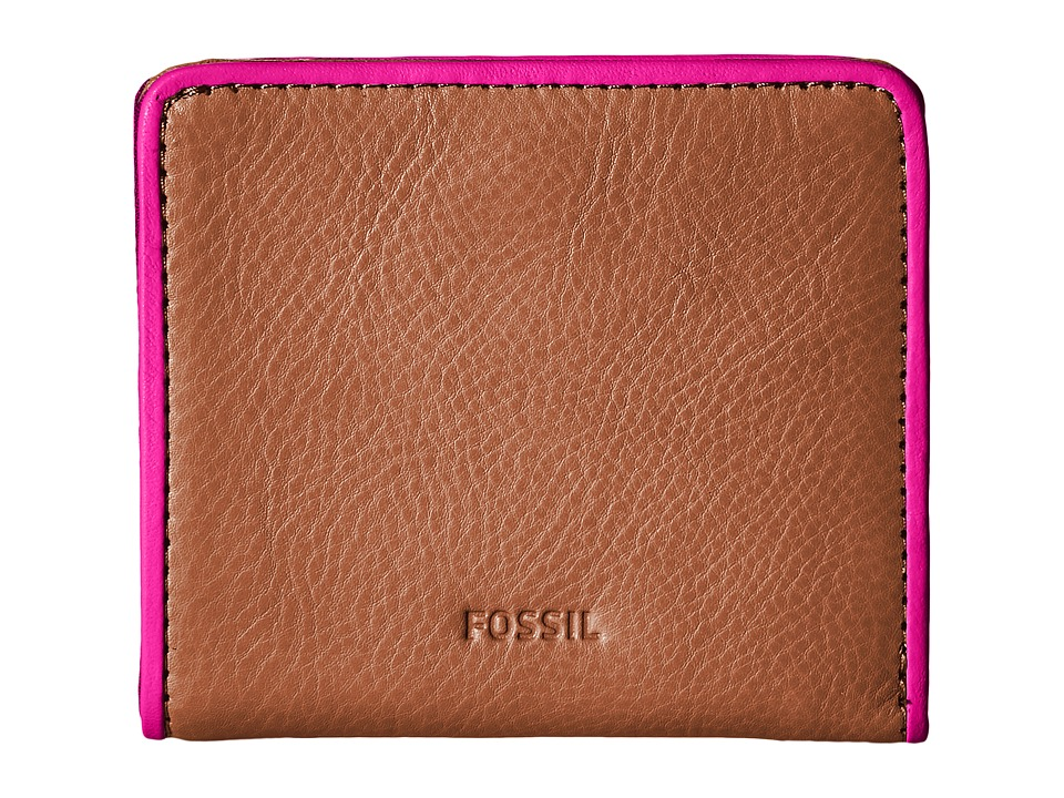 Fossil - Emma Mini Wallet RFID (Tan 1) Wallet Handbags