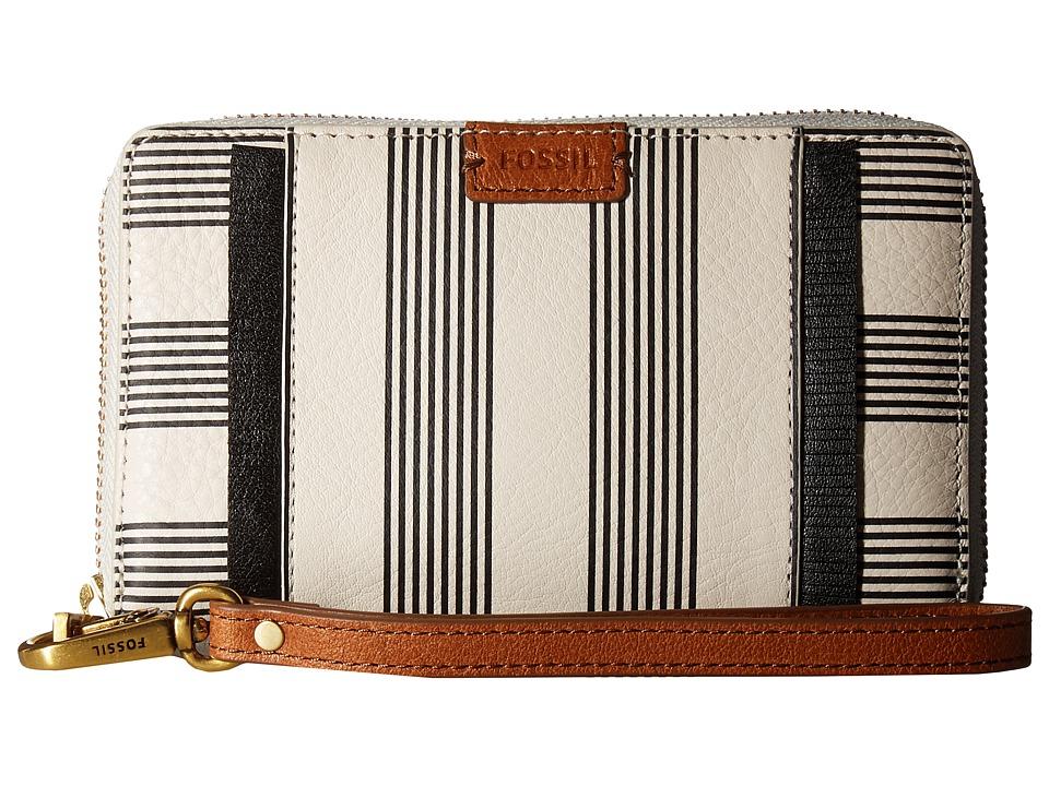Fossil - Emma Smartphone Wristlet RFID (Black Stripe) Wristlet Handbags
