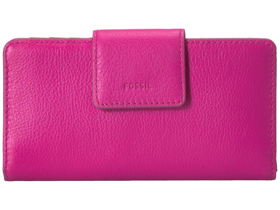 Fossil - Emma Tab Clutch RFID (Hot Pink) Clutch Handbags