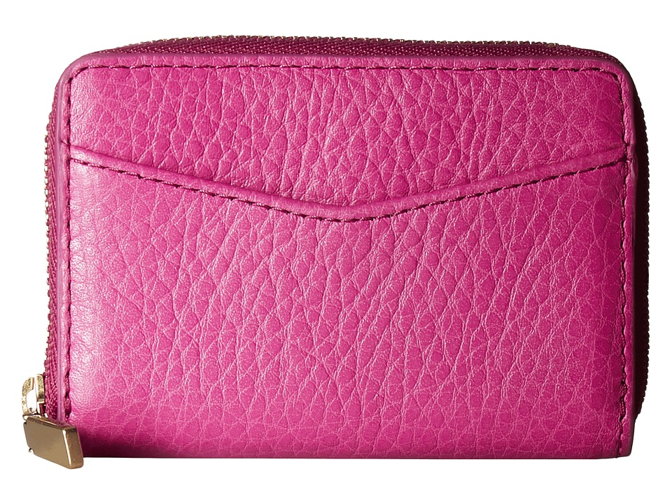 Fossil - RFID Mini Zip Card Case (Hot Pink) Wallet