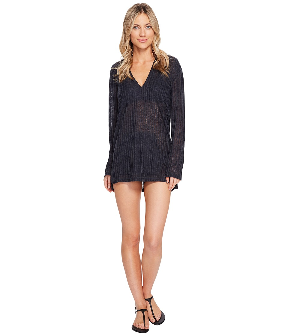Billabong - Love Lost Hooded Pullover Cover-Up (Black Sands) Women's Swimwear