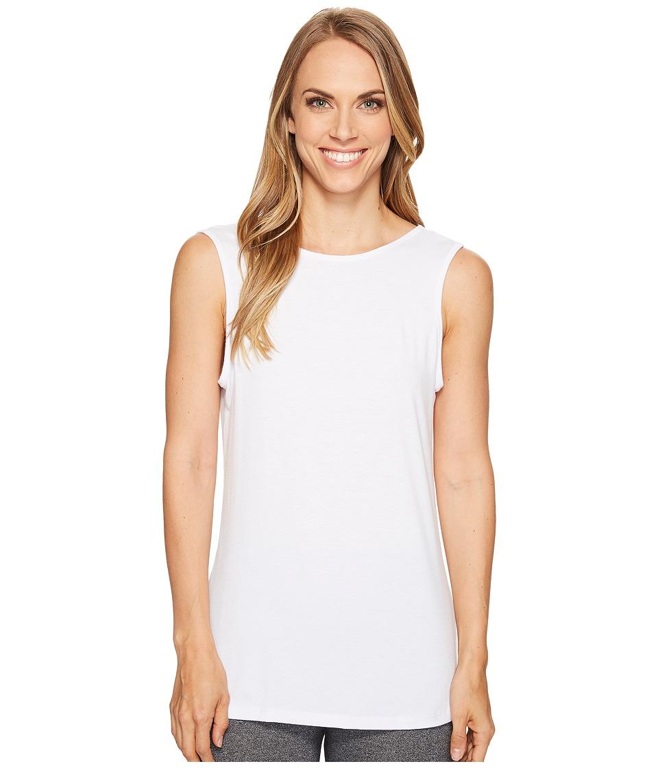 Onzie - Flyaway Tank Top (White) Women's Sleeveless