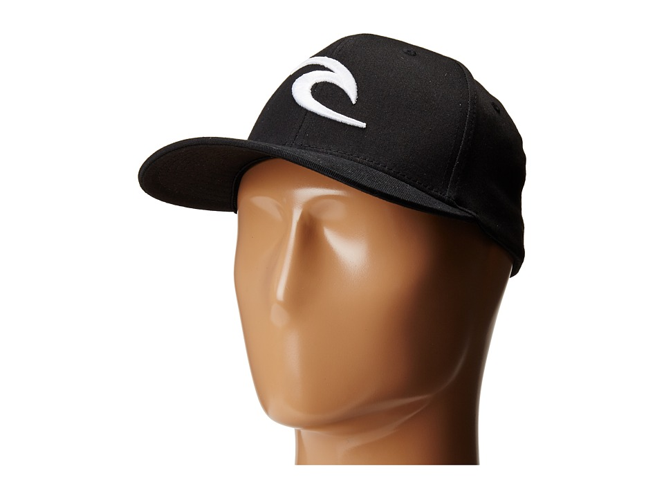 Rip Curl - RC Icon Flexfit Hat (Black) Baseball Caps