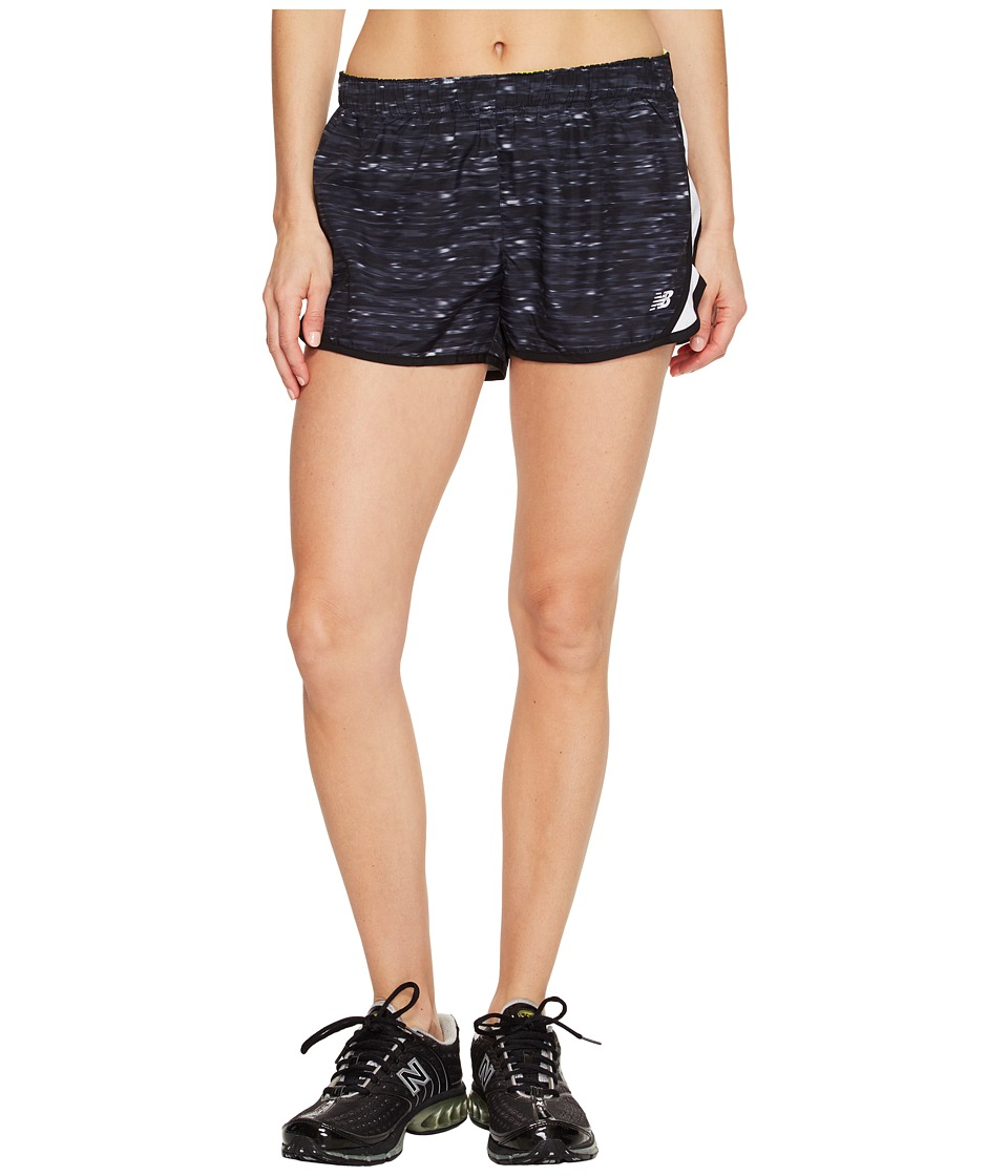 New Balance - Accelerate 2.5 Printed Shorts (Black Multi) Women's Shorts