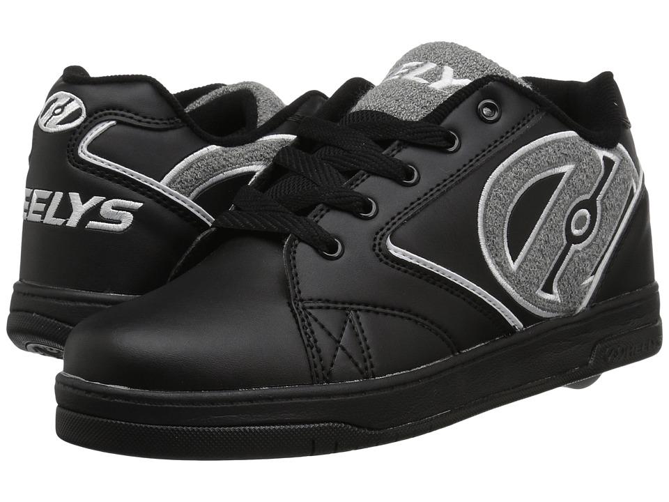 Heelys Propel Terry (Little Kid/Big Kid/Adult) (Black/Grey) Boys Shoes