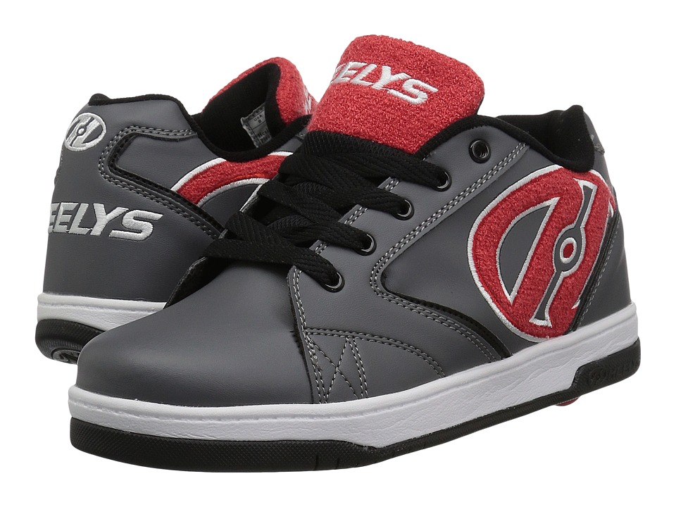 Heelys Propel Terry (Little Kid/Big Kid/Adult) (Grey/Red) Boys Shoes