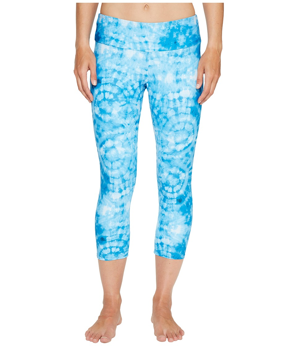 Onzie - Capri Pants (Tie-Dye Blue) Women's Casual Pants
