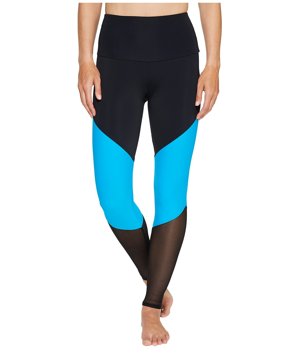Onzie - High-Rise Track Leggings (Indian Blue) Women's Casual Pants