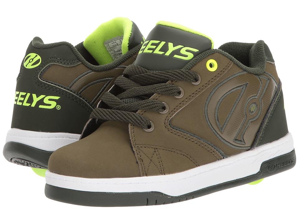Heelys Propel 2.0 (Little Kid/Big Kid) (Olive/Dark Green/Bright Yellow) Boys Shoes