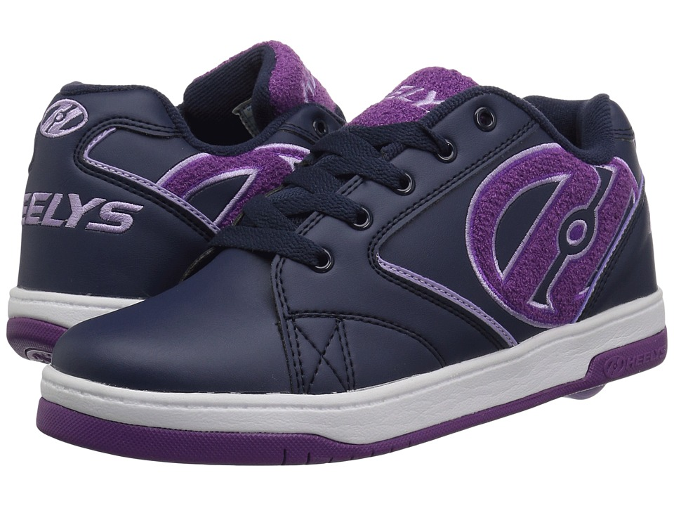 Heelys Propel Terry (Little Kid/Big Kid/Adult) (Navy/Grape Terry Logo) Girls Shoes